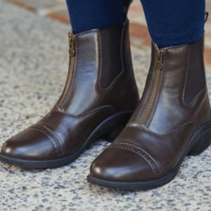 Altitude Zip Paddock Boots brown details