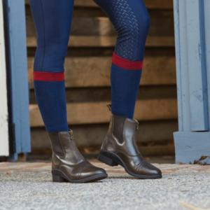 Altitude Zip Paddock Boots heel