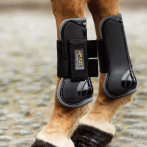 Amigo Tendon & Fetlock Boots black with grey outline