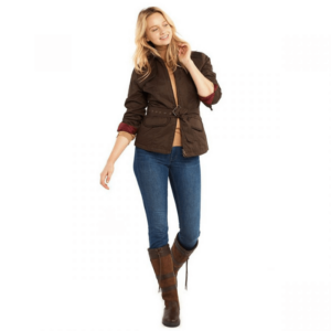 Dubarry Enright Ladies Belted Jacket bourbon front