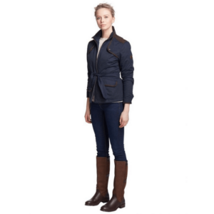 Dubarry Enright Ladies Belted Jacket navy full body