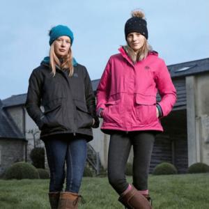 Dublin Adda Waterproof Jacket black and fuschia