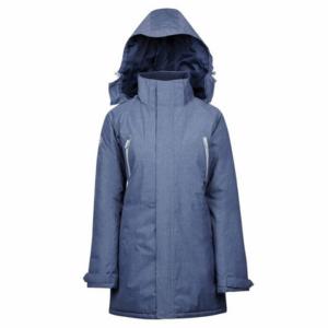 Dublin Amy Mid Length Waterproof Parka in blue with hood