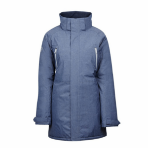 Dublin Amy Mid Length Waterproof Parka in blue without hood