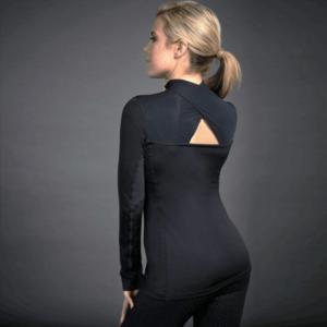 Dublin Black Leslie Half Zip Thermal Top black back