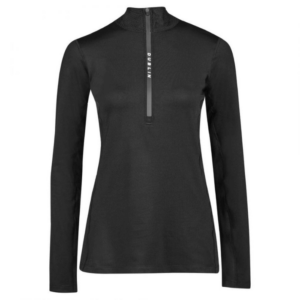 Dublin Black Leslie Half Zip Thermal Top in black