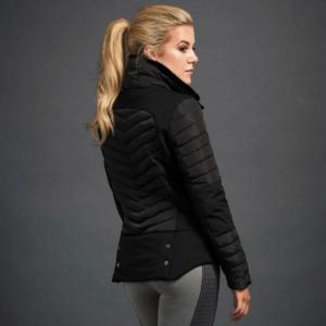 Dublin Black Maya Puffer Jacket back