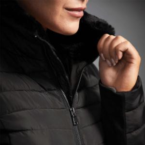 Dublin Black Maya Puffer Jacket collar