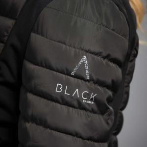 Dublin Black Maya Puffer Jacket logo