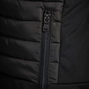 Dublin Black Maya Puffer Jacket pocket zipper
