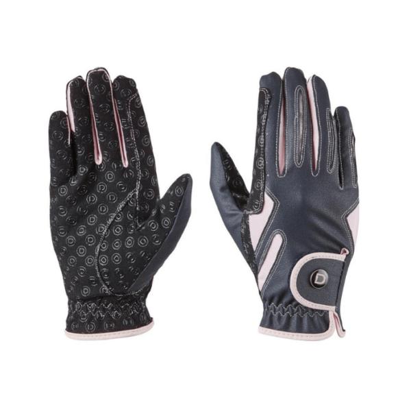 Dublin Cool-It Gel Riding Gloves black pink