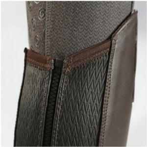 Dublin Leather Half Chaps back details