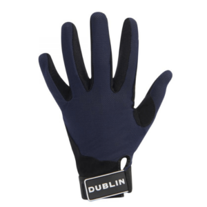 Dublin Mesh Back Riding Gloves navy back