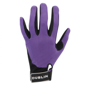 Dublin Mesh Back Riding Gloves purple back