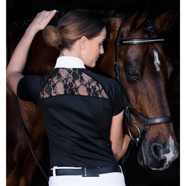 Horseware Ladies Sara Competition Shirt back when worn