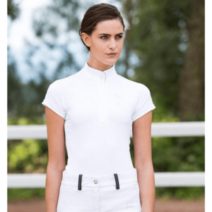 Horseware Ladies Sara Competition Shirt in white front