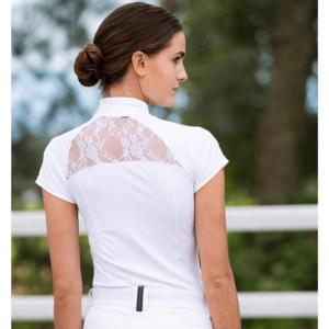 Horseware Ladies Sara Competition Shirt white back