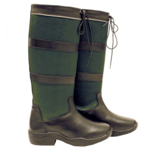 Rambo Original Pull Up Country Boots - Wide Calf black green