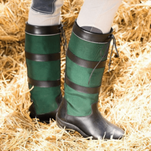 Rambo Original Pull Up Country Boots - Wide Calf black green pair