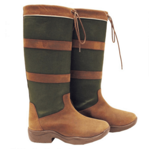 Rambo Original Pull Up Country Boots - Wide Calf brown green