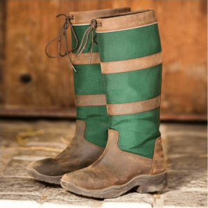 Rambo Original Pull Up Country Boots - Wide Calf brown green pair