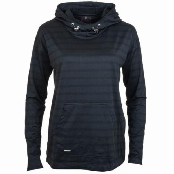 Ryton Hooded Sweatshirt black front