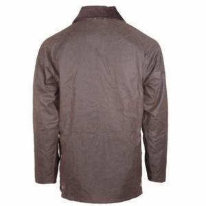 Toggi Balmoral Unisex Wax Jacket chocolate back