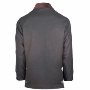 Toggi Balmoral Unisex Wax Jacket olive back