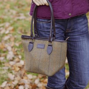 Toggi Melton Ladies Tweed Bag - Glencoe Tweed worn
