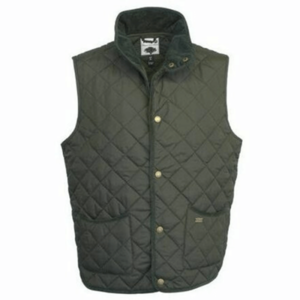 Toggi Tiverton Mens Classic Quilted Gilet olive