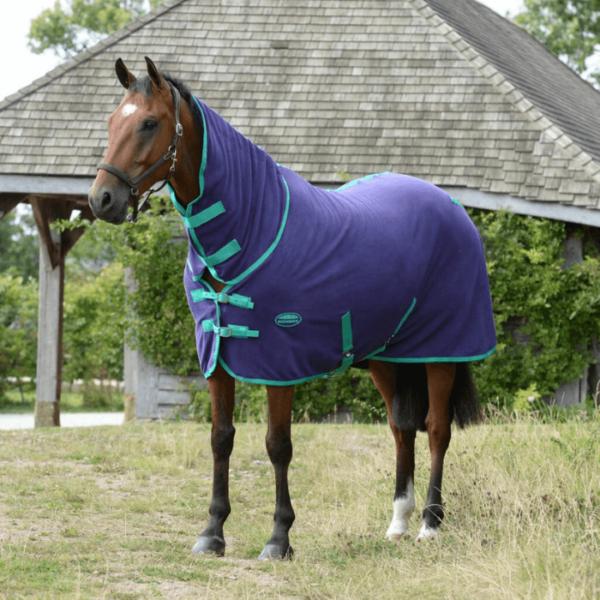 WeatherBeeta Fleece Combo Neck Cooler Bright Purple/Green