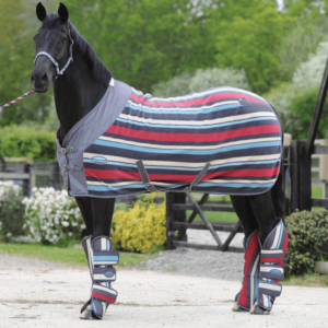 Weatherbeeta Fleece Cooler Standard Neck - Grey Stripes