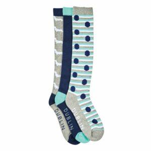 Dublin Dog Print Socks - 3 Pack