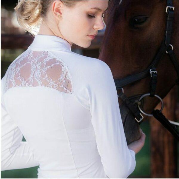 Long Sleeve White Sara Shirt