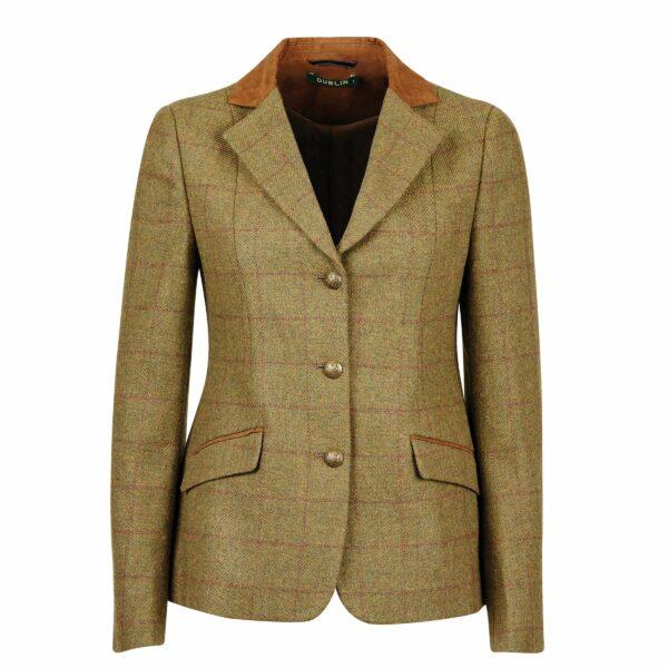 Dublin Albany Tweed Suede Collar Tailored Ladies Jacket