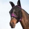 Weatherbeeta Comfitec Durable Mesh Mask With Ears Black & Purple