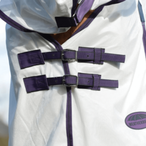 Weatherbeeta Comfitec Essential Mesh II Combo Neck White Purple