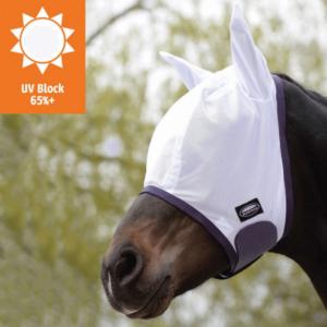 Weatherbeeta Comfitec Essential Mesh Mask White Purple