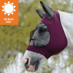 Weatherbeeta Stretch Eye Saver With Ears Purple Black