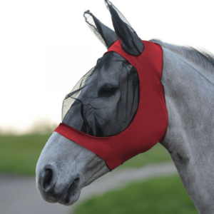 Weatherbeeta Stretch Eye Saver With Ears Red Black