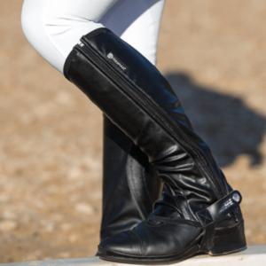 Horseware Tech Stretch Half Chaps - Short Black