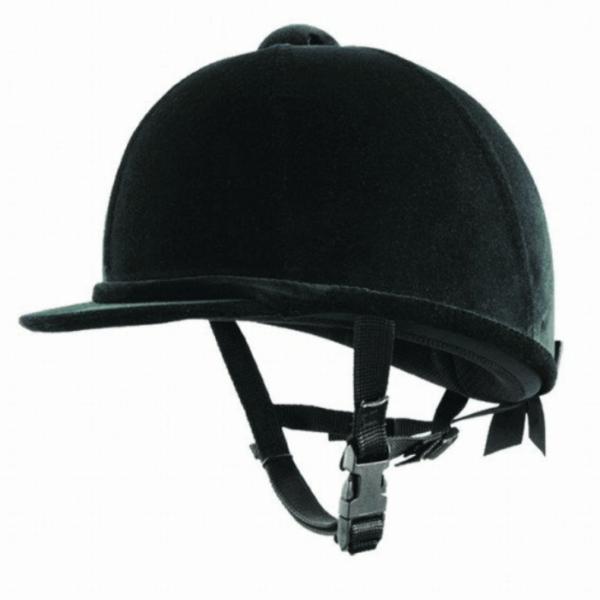 Dublin Velvet Safety Helmet- Black
