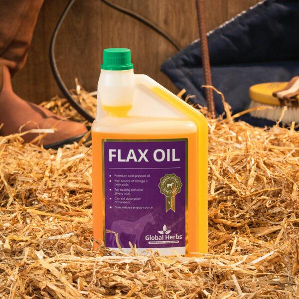 Global Herbs Flax Oil - 1 Lt