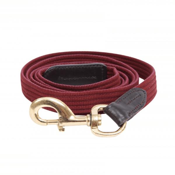 Kincade Leather Web Lead- Burgundy Brown
