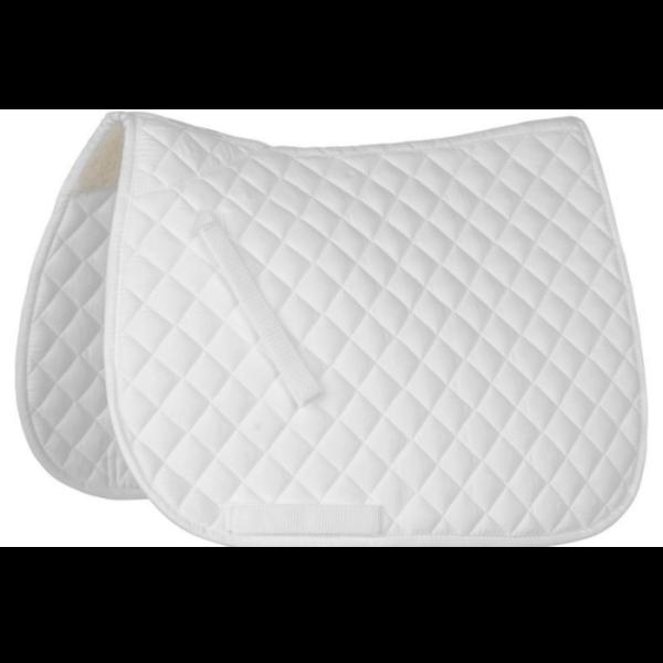 Roma Shaped All Purpose Saddle Pad - White