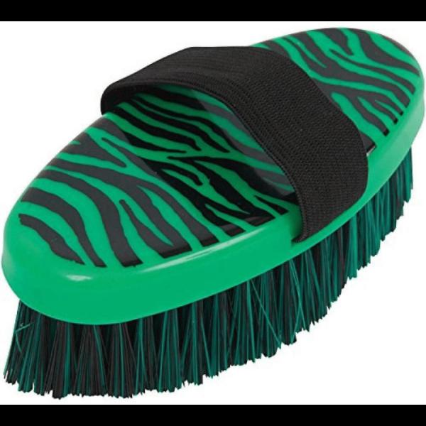 Roma Zebra Body Brush - Green