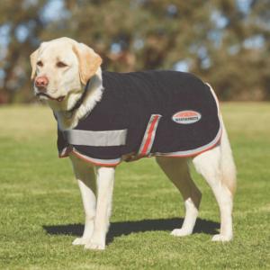Weatherbeeta Therapy-Tec Dog Coat Fleece - Black Silver Red