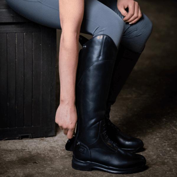 Avebury Riding Boot-Black-LF-Side