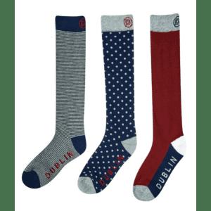 Dublin 3 Pack Socks (Burgundy)