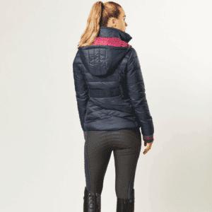 Dublin Gemma Puffer Jacket- Ink Navy-Back Fl